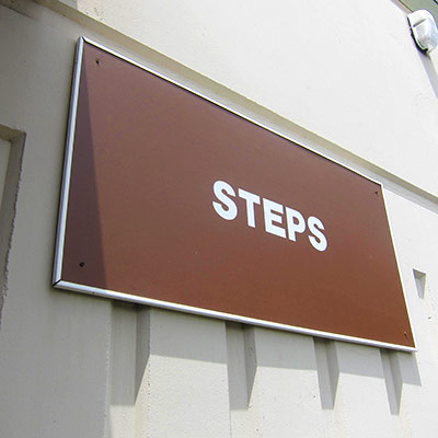 steps automotive sign